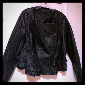 Faux leather Forever 21 plus size jacket